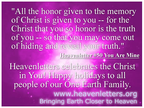happy holidays from heavenletters
